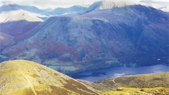 A bird's-eye view of Buttermere from Red Pike (Stage 7)
