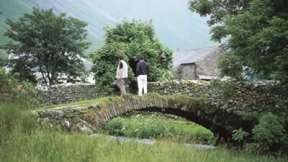 Packhorse bridge, Wasdale Head, behind the inn, for centuries a place of rest and refreshment (Stage 6)