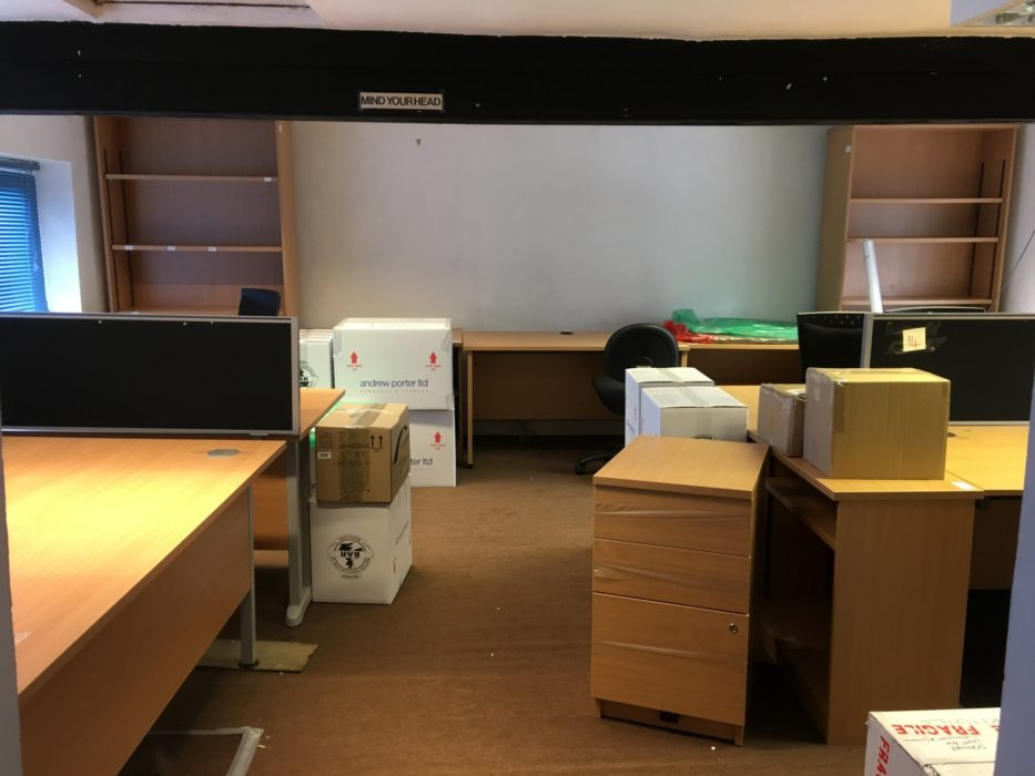 The newly emptied room. This time being emptied for the move to Juniper House.