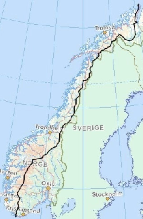 Norge Pa Langs - Norway is a very long country