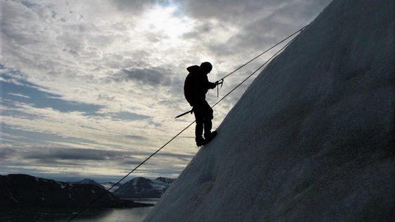 Glacier abseil