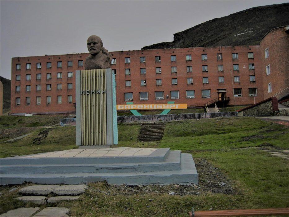 Lenin presides over the grim starknes of Barentsburg