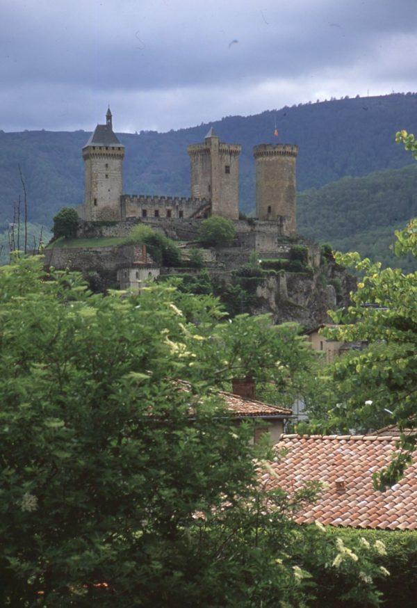 Foix Castle on arrival