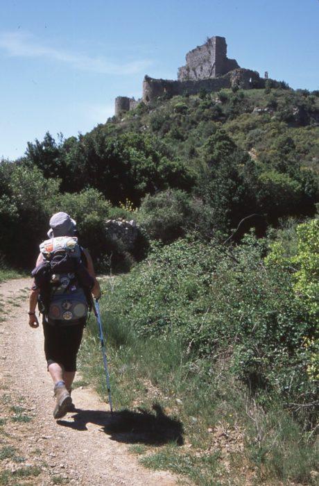 Approaching Aguilar castle