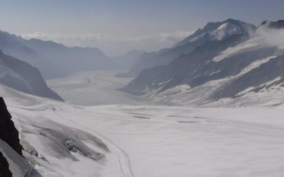 01 The Aletsch Glacier Runs South From Jungraujoch For 20Km