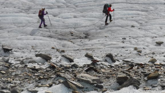 16 We Were Overtaken By Hutte Gardian Sarah Carrying Her Young Baby On Her Back