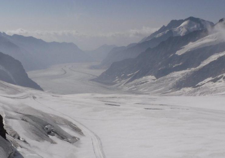 Walking the Aletsch Glacier