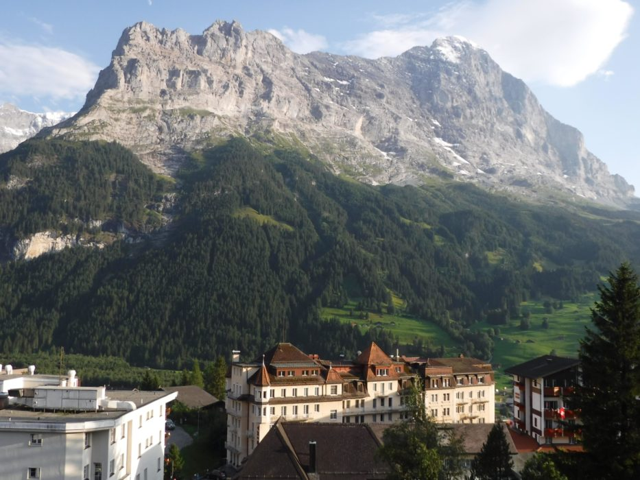 02 Before Our Walk We Stayed In Grindelwald Below The North Face Of The Eiger
