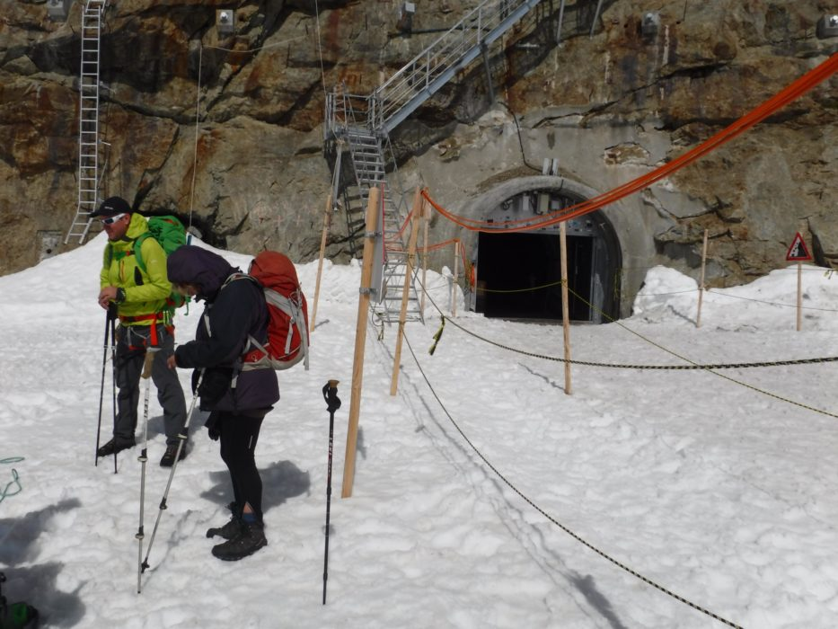 03 We Started Walking Outside The Entrance To Jungfraujoch Mountain Railway Station