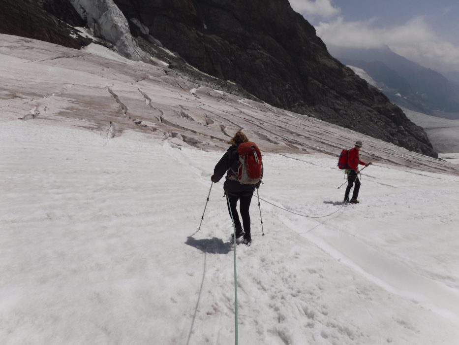 07 At First The Crevasses Were Narrow And Snow Filled