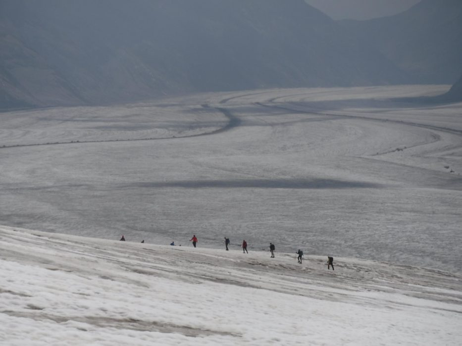05 Groups Ahead Of Us Looked Like Ants Making Their Way Down The Glacier