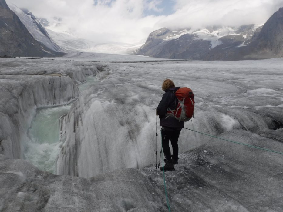 10 Meltwater Plunged Into A Cavern Beneath The Ice