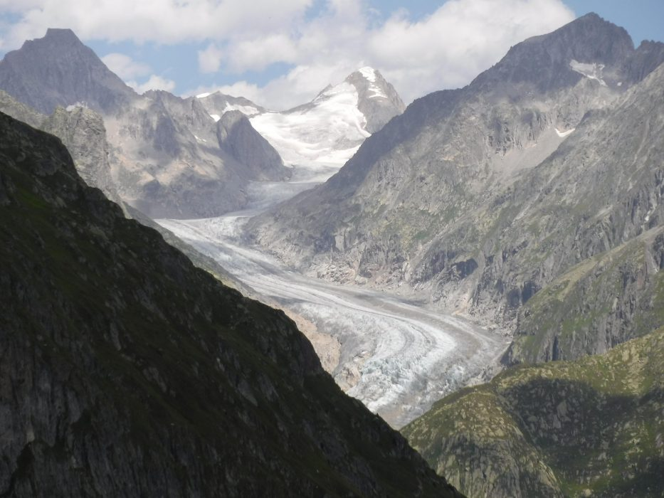 19 Last View Back Up The Glacier As We Climbed Towards The Marjela Dam