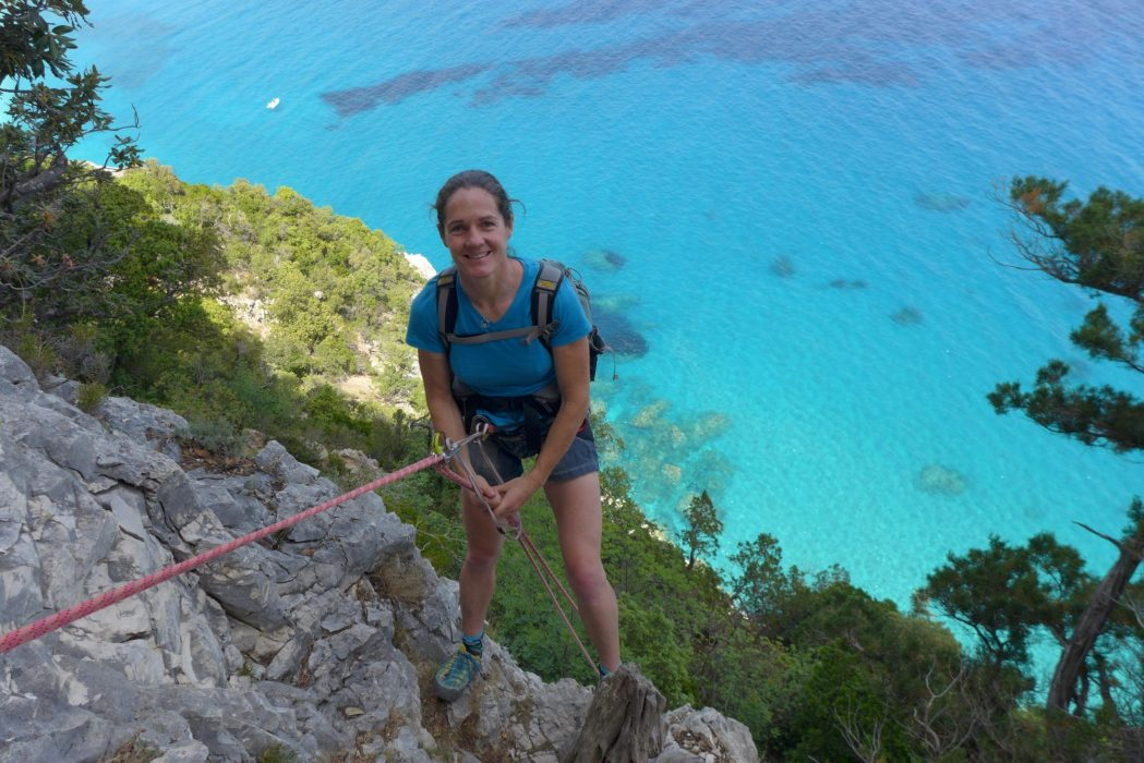 Tania On The Last Abseil During A Recce With Friends Mariangela And Tore
