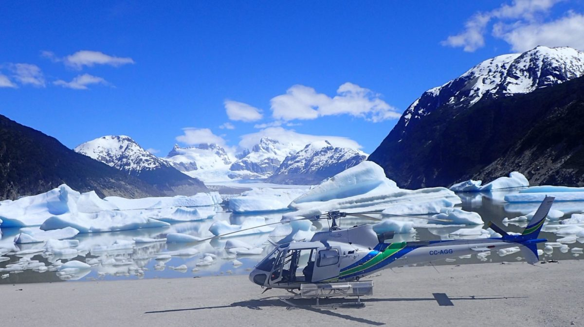 Helicopter Ride Across The Glacier