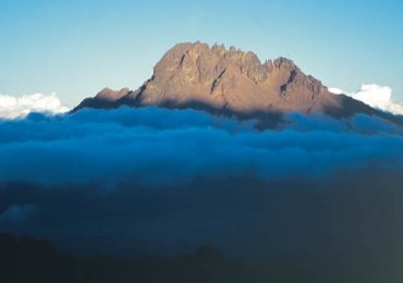 011 Mawenzi Seen At Dusk Above Band Of Cloud From Kibo Hut Rongai Route Mawenzi Tarn Hut To Kibo