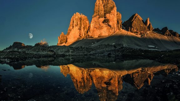 126 The Sun Sets On The North Faces Of The Tre Cime Di Lavaredo