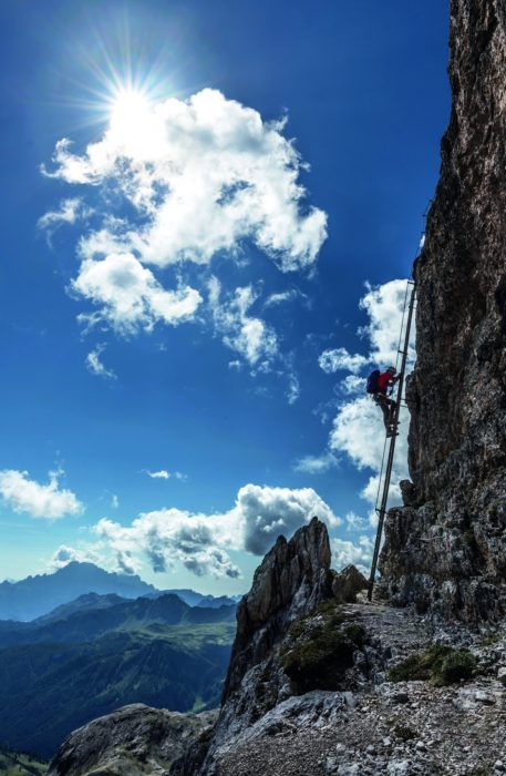 052 The long iron ladder is part of a Via Ferrata route
