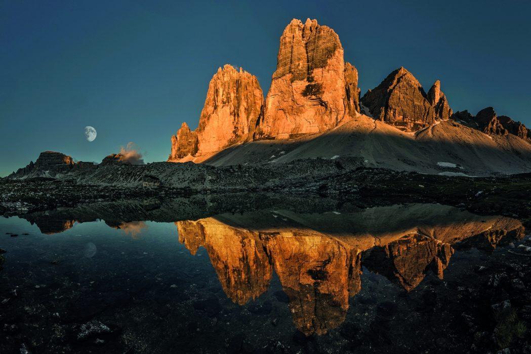 126 The Sun Sets On The North Faces Of The Tre Cime Di Lavaredo