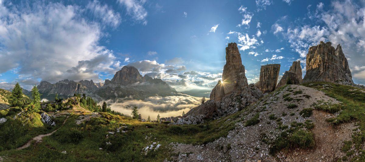 074 Cinque Torri Panorama With Views Of Tofana Di Rozes