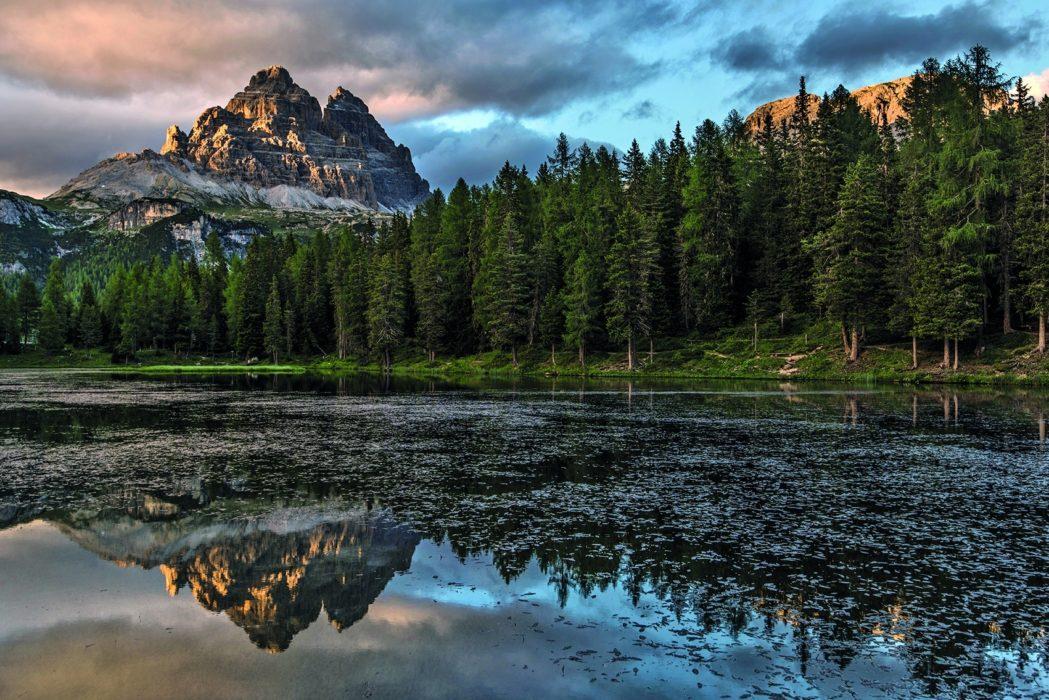 157 The South Faces Of The Tre Cime Di Lavaredo Reflected In Lago Di Antorno