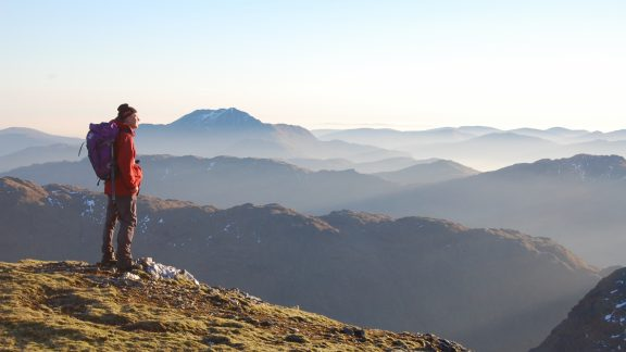 On An Caisteal Looking At Ben Lomond