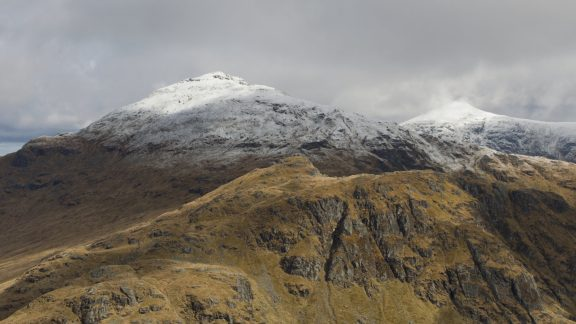 The Unwalked Face Of Cruach Ardrain With Stob Binnein Right Seen From Beinn A Chroin