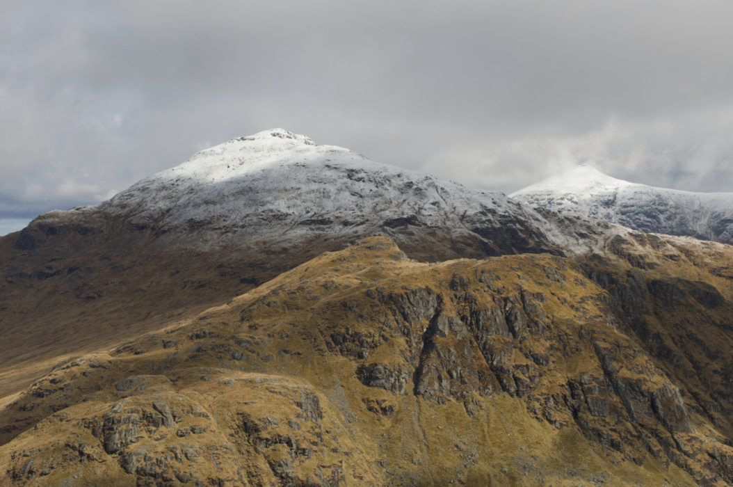 The Unwalked Face Of Cruach Ardrain With Stob Binnein Right Seen From Beinn A Chroin