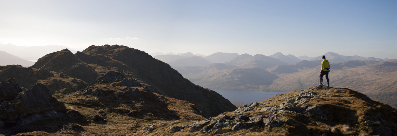On Ben Venue Looking At The Crianlarich Hills And Loch Katrine