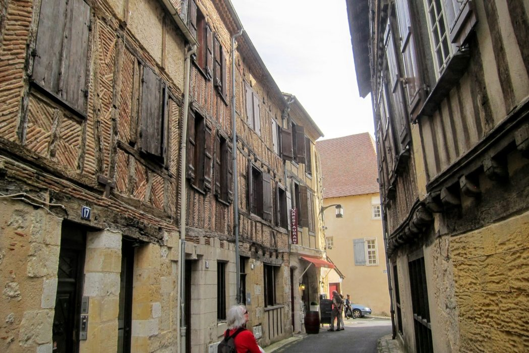 Half-timbered houses at Bergerac