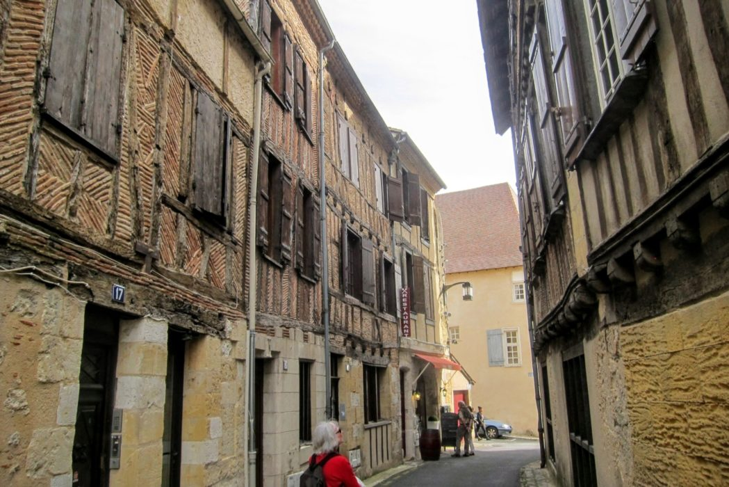 Half-timbered houses at Bergerac