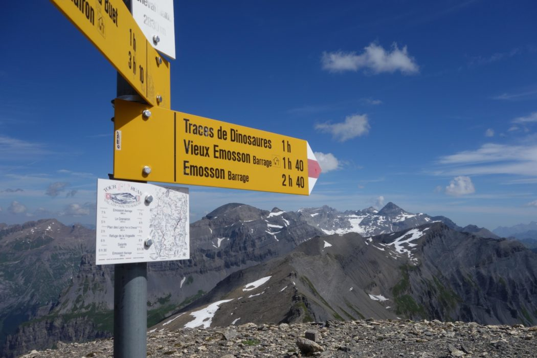 Summit Signpost On Le Cheval Blanc