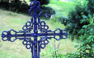 Typical metal wayside cross