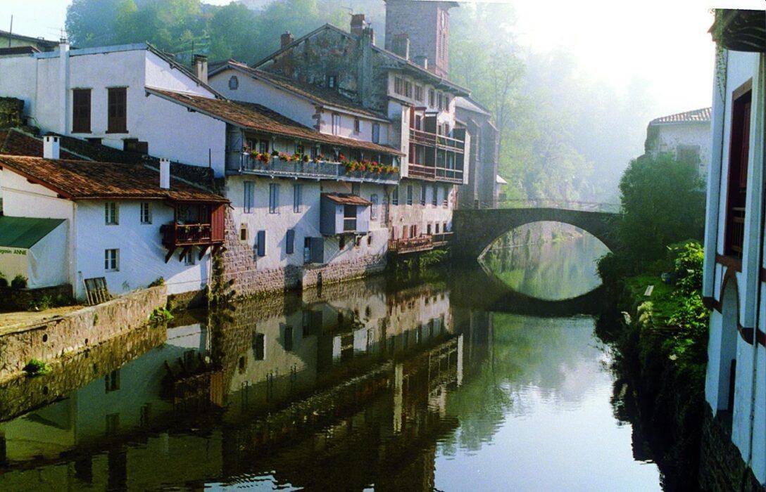 Bridge over the river Nive Saint Jean Piedde Port Photo Marigold Fox