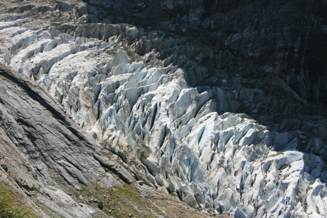 Glacier Below The Gleckstein Hut