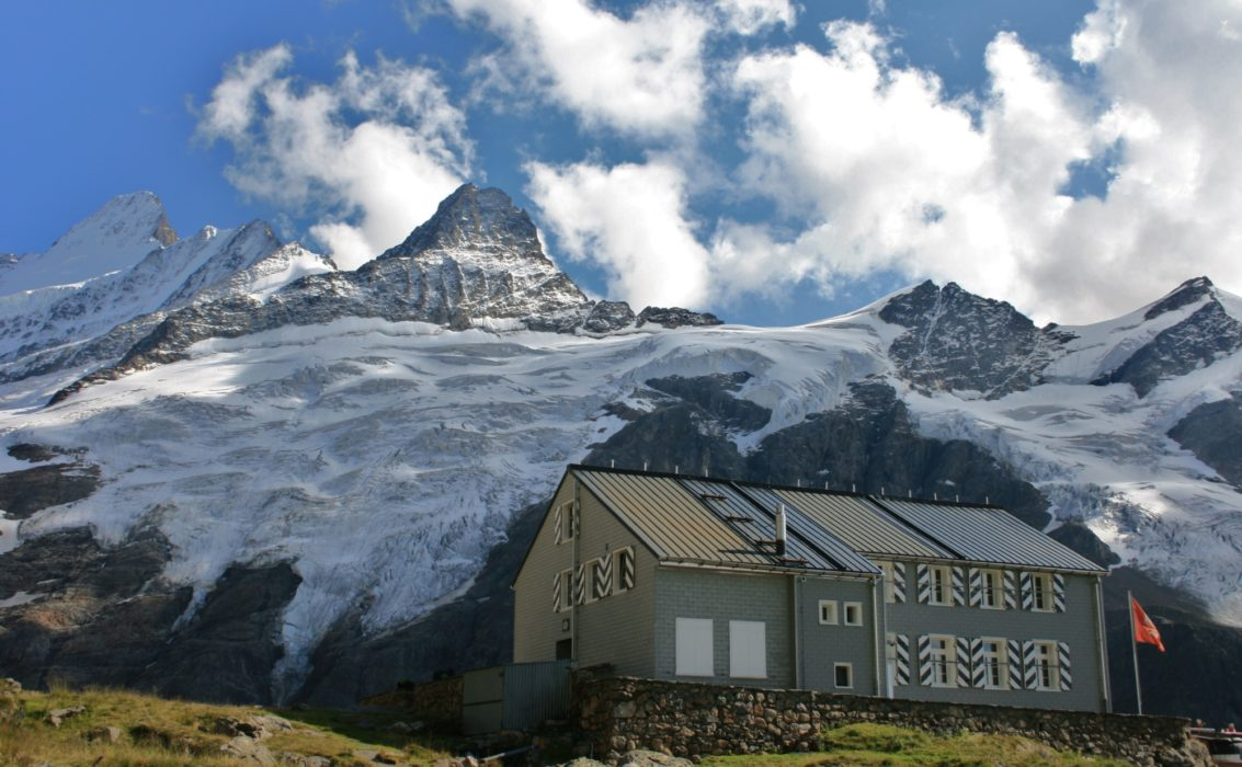 The Gleckstein Hut And The Schreckhorn