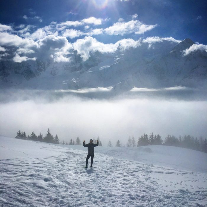 Emerging Above A Sea Of Clouds At Chalets De Chailloux