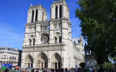 P002  In Front Of Notre Dame Cathedral In Paris