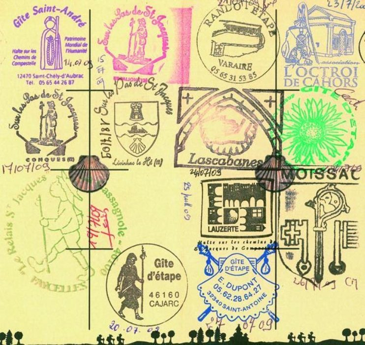 Stamps In A Pilgrim Passport