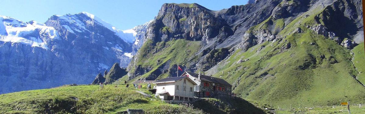 Approaching the Rotstock Hut