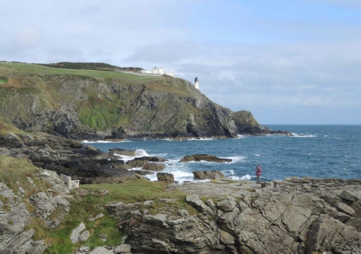 Walking the coastal path on the Isle of Man
