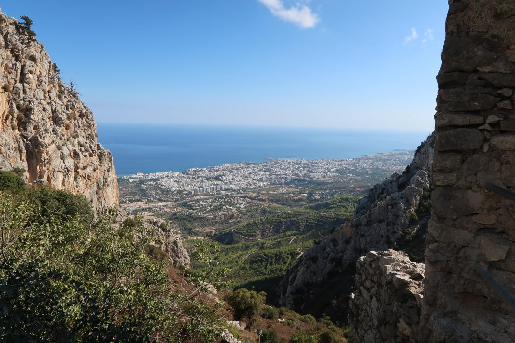1  Looking Down Onto Kyrenia From St Hilarion Castle