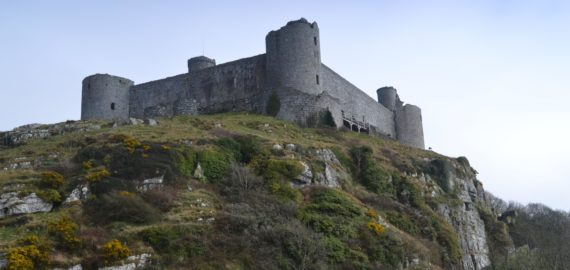 Harlech Castle seems a natural extension of the former coastal cliffs