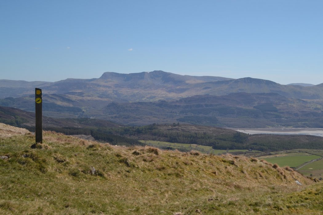 On the approach to Barmouth, on the alternative hill route, Cadair Idris comes magnificently in view