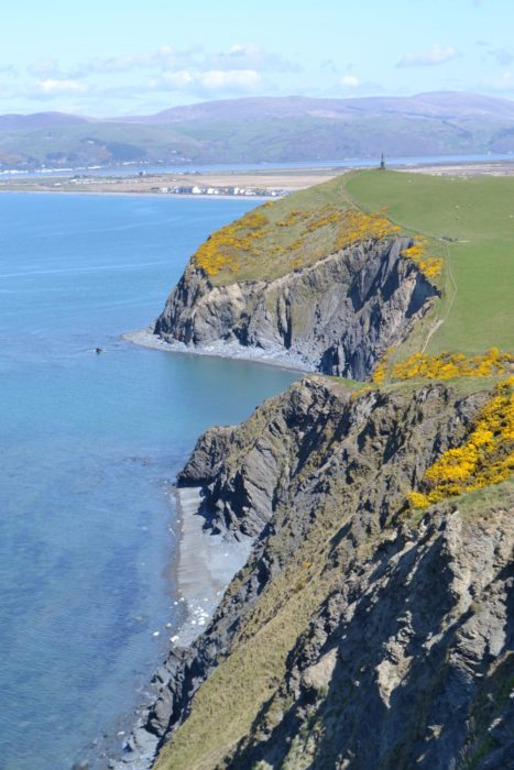 High cliffs characterise the path on its way south from Borth