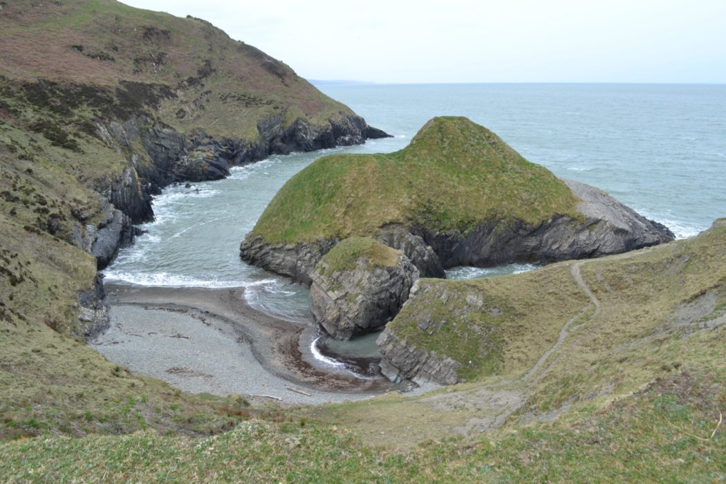 Dramatic coastal scenery south of Newquay
