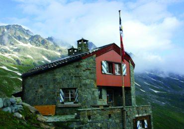 Chamanna Coaz at the head of Val Roseg in the Bernina Alps
