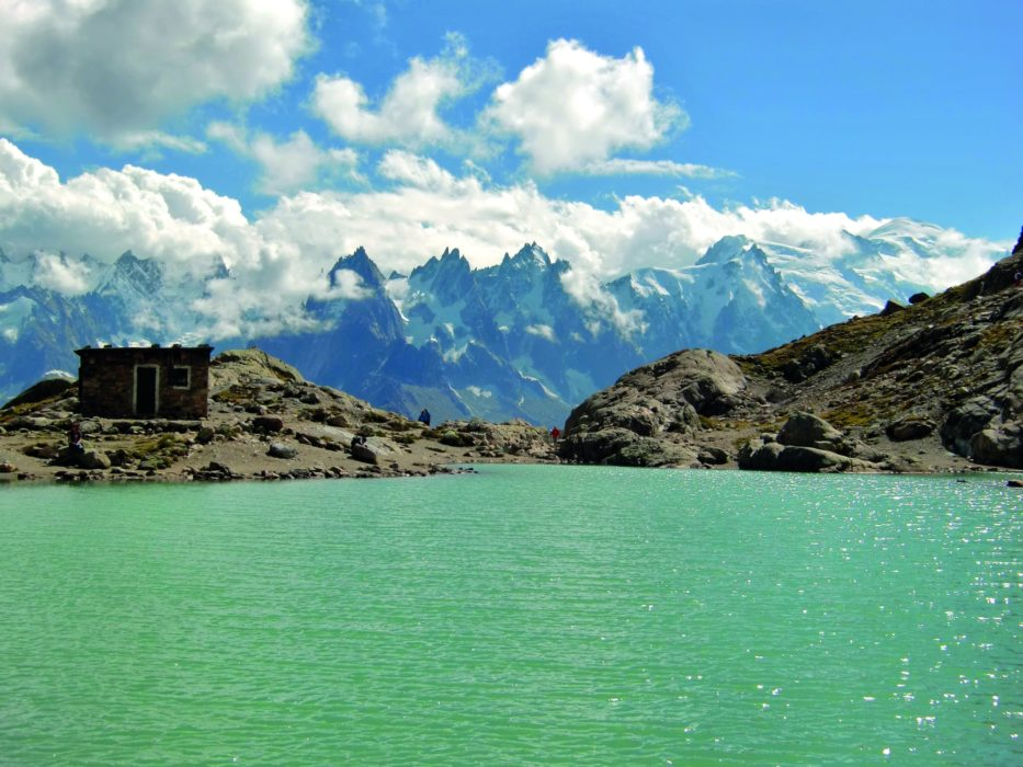 Lac Blanc, with its classic view of Mont Blanc and the Aiguilles