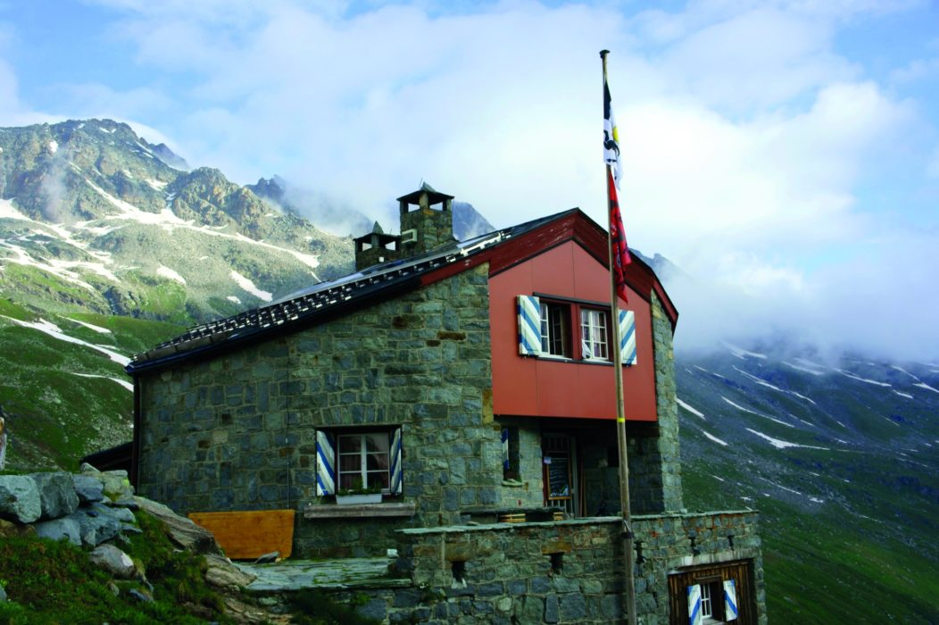 Chamanna Coaz at the head of Val Roseg in the Bernina Alps