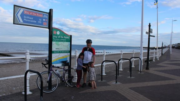 018 Well Done Daddy! The End Of The Ride At Bridlington